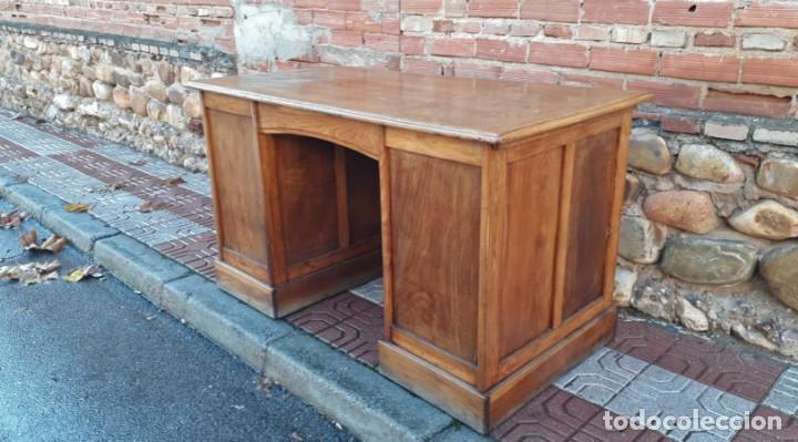 Antigüedades: Escritorio americano de roble. Mesa de despacho antigua estilo americano. Escritorio antiguo - Foto 11 - 141136634