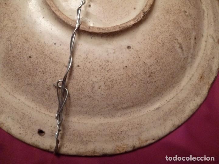 Antigüedades: Plato Cerámica Talavera Puente del Arzobispo Serie Tricolor Estrella de Plumas Encomienda siglo XVII - Foto 8 - 141140966