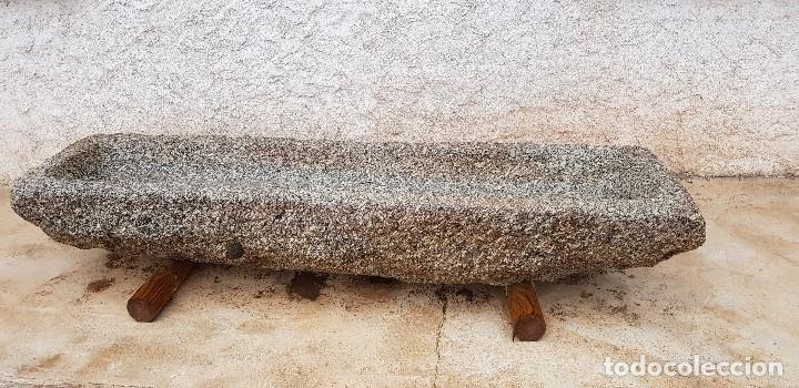 ANTIGUA PILA /ABREVADERO DE PIEDRA GRANITO (Antigüedades - Varios)