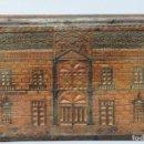 Antigüedades: GRAN CAJA DE MADERA TALLADA. TRABAJO TIPO PASTORIL. REGALO A HIJA. 1941. Lote 141162410
