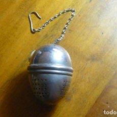Antigüedades: SALERO EN METAL PLATEADO CON FORMA DE HUEVO - PRINCIPIOS DEL S.XX. Lote 141186166
