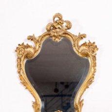 Antigüedades - Espejo Cornucopia Antiguo De Bronce - 141225766