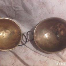 Antigüedades: CAZOS DE METAL-FONDO REDONDO. Lote 141228182