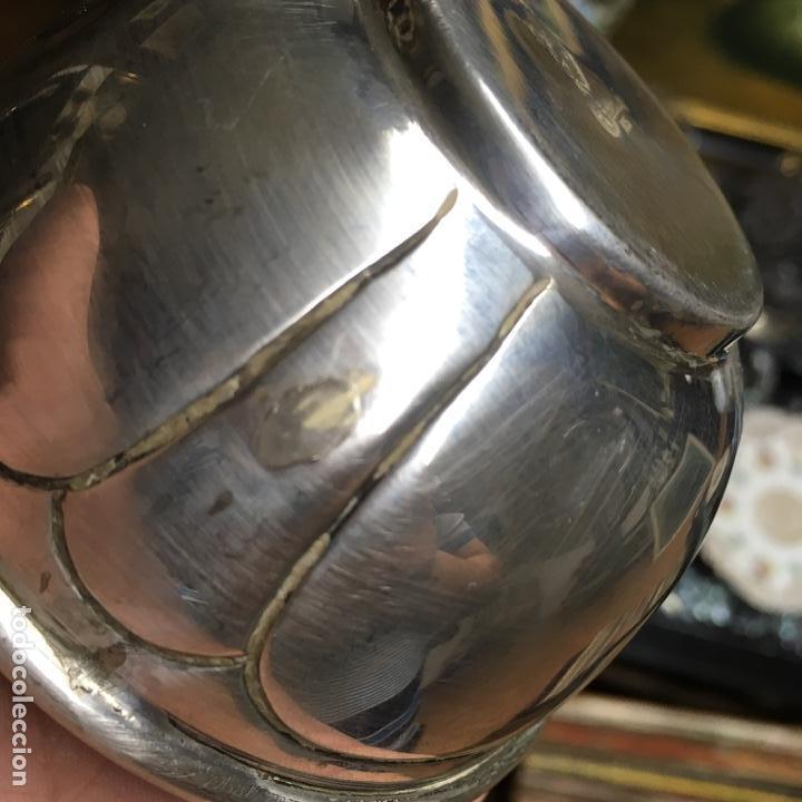 Antigüedades: Taza de plata de ley 925, pesa 134 gramos, tiene defectos - Foto 5 - 141245918