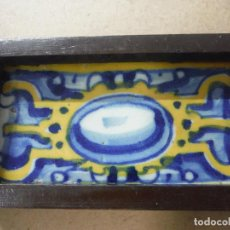 Antigüedades: ANTIGUO AZULEJO TALAVERANO. Lote 141247146