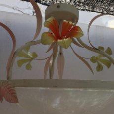 Antigüedades: CLASICA LAMPARA TECHO VINTAGE ART DECO DECORATIVA, IDEAL CASA RURAL VINTAGE. Lote 141273358
