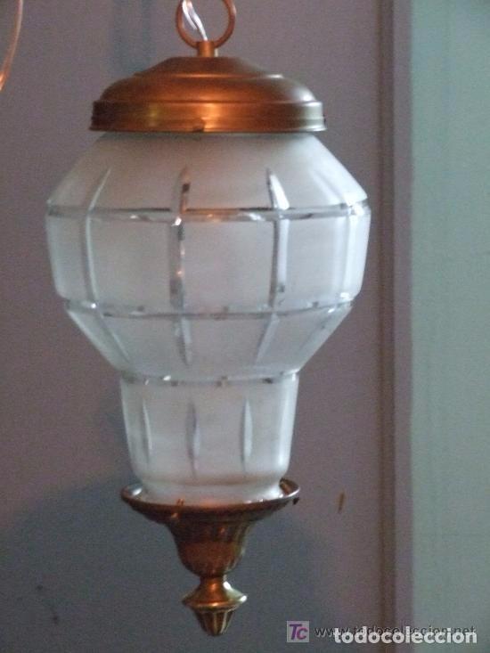 LAMPARA , UNA LUZ (Antigüedades - Iluminación - Faroles Antiguos)