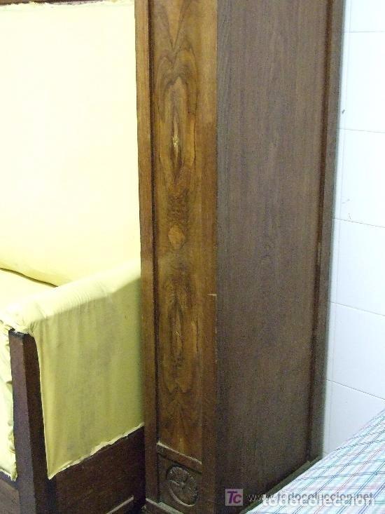 Antigüedades: SOFA-VITRINA MODERNISTA CON MARQUETERIA Y TALLA EN ROBLE-GASPAR HOMAR ? - Foto 9 - 141309978
