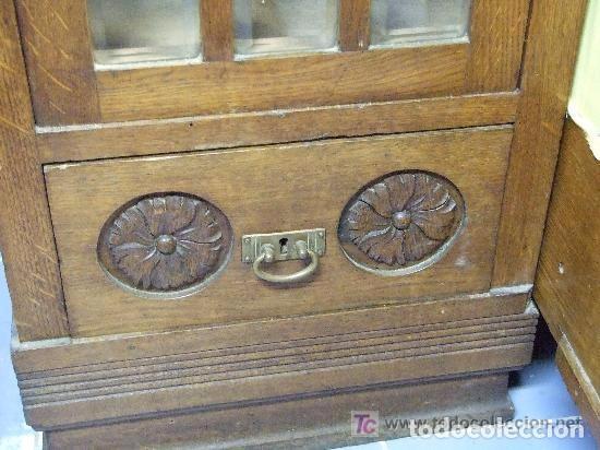 Antigüedades: SOFA-VITRINA MODERNISTA CON MARQUETERIA Y TALLA EN ROBLE-GASPAR HOMAR ? - Foto 19 - 141309978