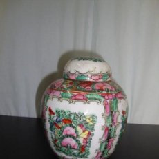 Antigüedades: POTE PORCELANA MACAO - 14,5 CM. Lote 141319070