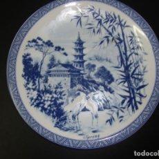 Antigüedades: 1 PLATO DE LAS 4 ESTACIONES (SPRING) PORCELANA CHINA - 24 CM. Lote 141323498