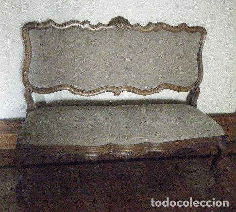CANAPÉ-SOFÁ ESTILO ROCOCÓ LUIS XV (Antigüedades - Muebles Antiguos - Sofás Antiguos)