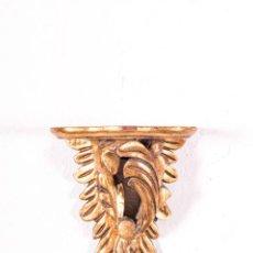Antigüedades: MÉNSULA ANTIGUA DE MADERA EN PAN DE ORO. Lote 141342762