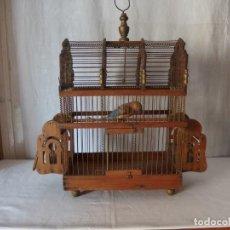 Antigüedades: GRAN JAULA DE MADERA, FINALES SIGLO XIX. Lote 141349390