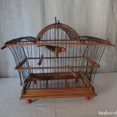 Antigüedades: JAULA DE MADERA, FINALES SIGLO XIX. Lote 141351470