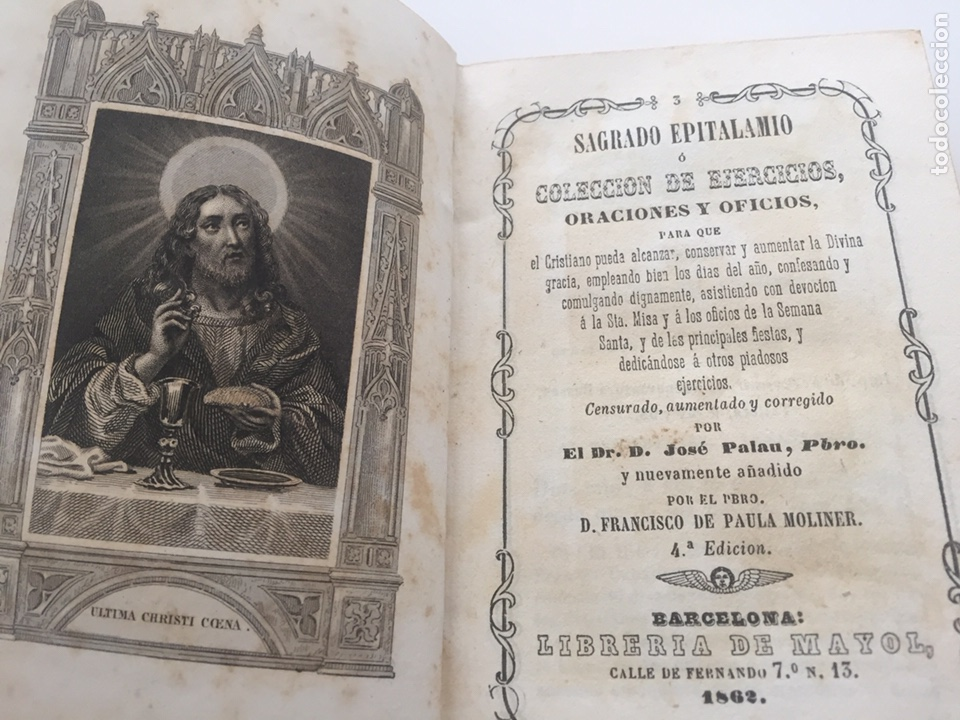 Antigüedades: Sagrado epitalamio 1862 - Foto 6 - 209217727