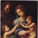 Antigüedades: LÁMINA LITOGRAFIADA RELIGIOSA RAFAEL SANZIO - VIRGEN DE LA ROSA (1518) 15X21CM.. Lote 141474982