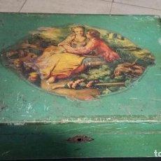 Antigüedades: CAJA ANTIGUA MADERA GASTOS ENVIO INCLUIDOS. Lote 141477846