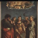 Antigüedades: LÁMINA LITOGRAFIADA RELIGIOSA RAFAEL SANZIO - SANTA CECILIA (1514) 15X21CM.. Lote 141477850