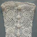 Antigüedades: ANTIGUOS GUANTES DE ENCAJE DE GUIPUR DE IRLANDA S.XIX. Lote 157928344