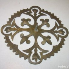 Antigüedades: ANTIGUA CORONA DE LATON PARA IMAGEN DE SANTO.. Lote 141485022