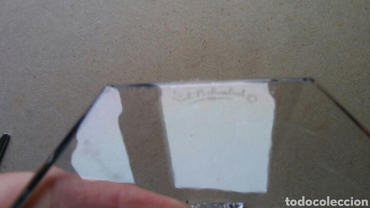 Antigüedades: 3 piezes cristal (portavelas com firma Val Saint Lambert) y 2 copas cristal. - Foto 6 - 141537146