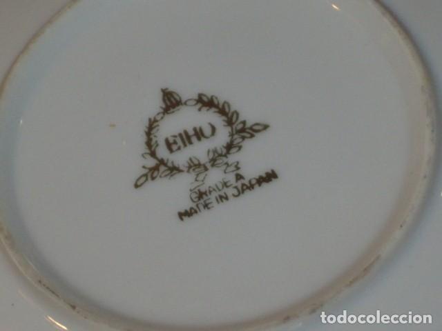 Antigüedades: JUEGO DE CAFE O TE DE PORCELANA JAPONESA EIHO.DIBUJOS EN RELIEVE. - Foto 9 - 141562930