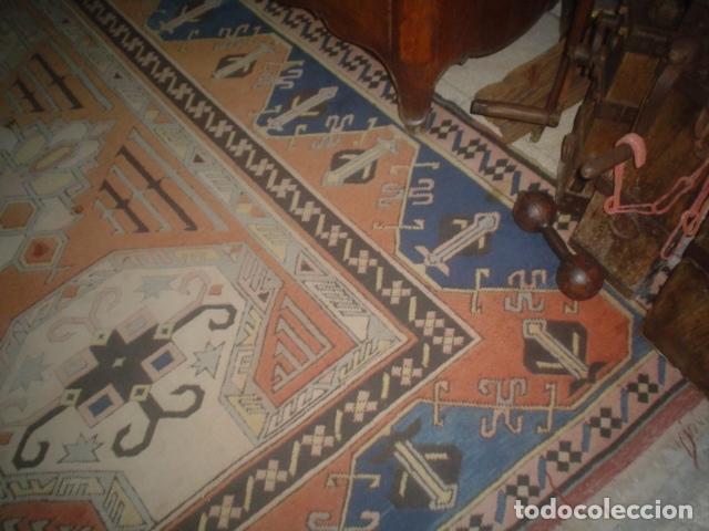 Antigüedades: preciosa alfombra lana hecha a mano - Foto 2 - 141569630