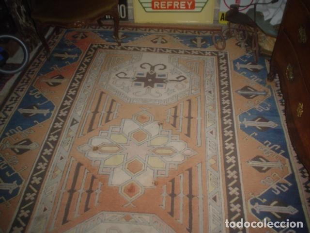 Antigüedades: preciosa alfombra lana hecha a mano - Foto 4 - 141569630