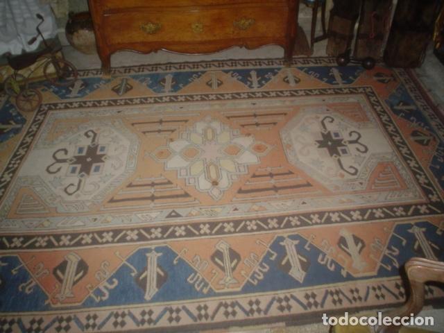 Antigüedades: preciosa alfombra lana hecha a mano - Foto 7 - 141569630