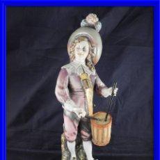 Antigüedades: FIGURA PORCELANA S MALLOL FIRMADA TAMBORILERO. Lote 141570918