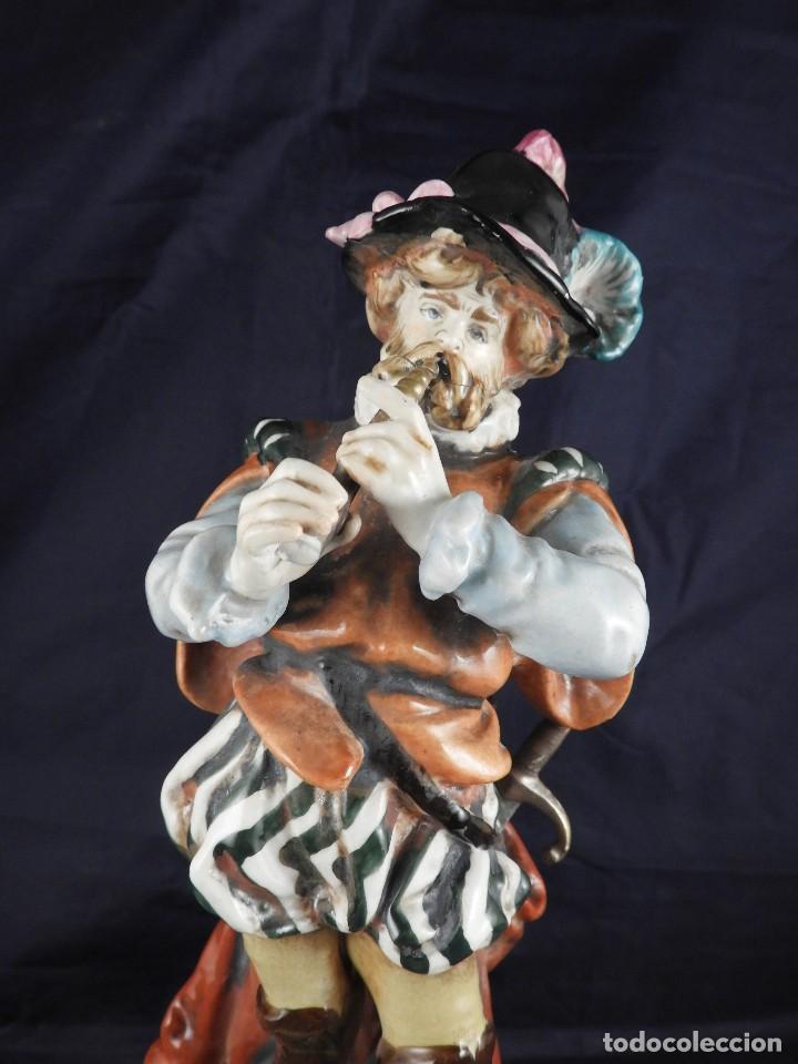 Antigüedades: FIGURA DE PORCELANA S MALLOL FLAUTISTA - Foto 2 - 141571602