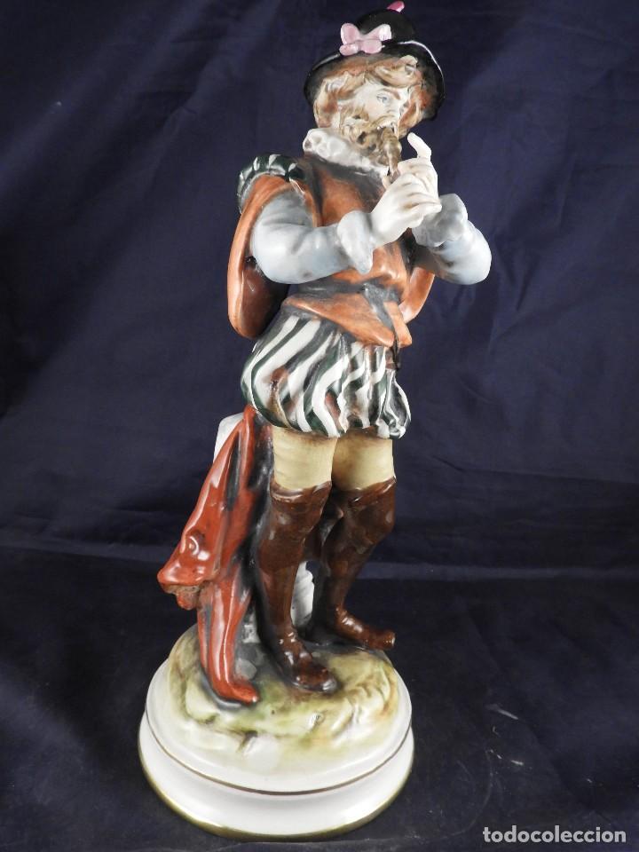 Antigüedades: FIGURA DE PORCELANA S MALLOL FLAUTISTA - Foto 4 - 141571602