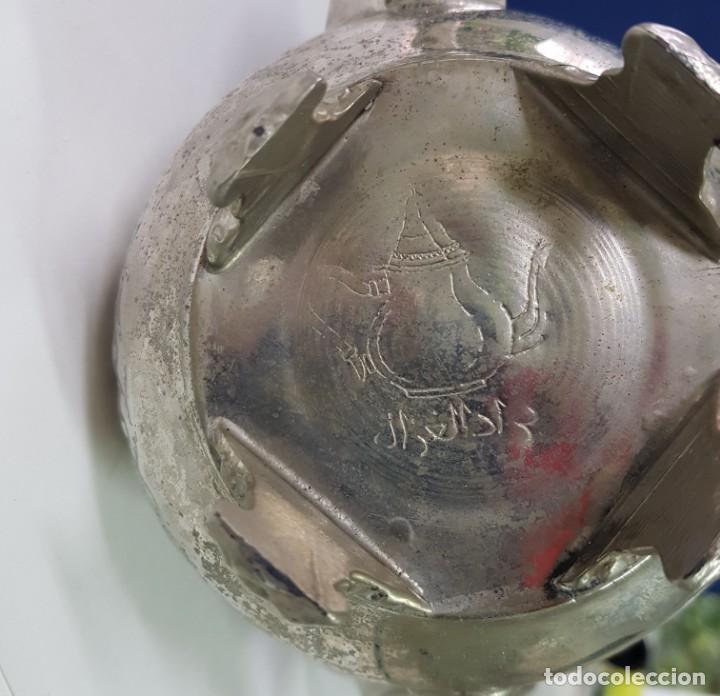 Antigüedades: TETERA ÁRABE CON BAÑO DE PLATA - Foto 4 - 141582114