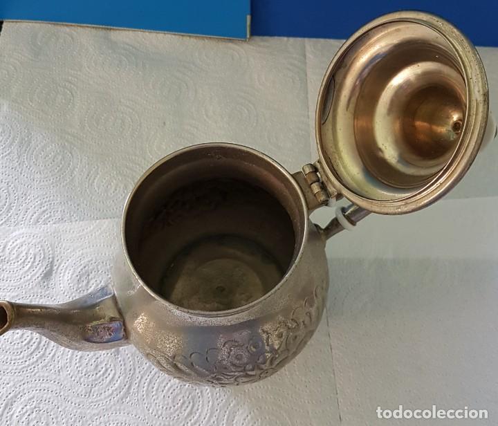 Antigüedades: TETERA ÁRABE CON BAÑO DE PLATA - Foto 5 - 141582114