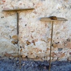 Antigüedades: 2 RASTROS RASTRILLOS RECOGEDORES ANTIGUOS MUY BIEN CONSERVADOS - APEROS DE LABRANZA. Lote 141584594