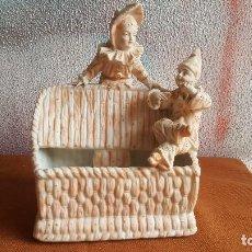 Antigüedades: PRECIOSO CENTRO DE MESA EN BISCUIT ANTIGUO, SIGLO XIX. PORCELANA ANTIGUA. PORCELANA EUROPEA.. Lote 141588174