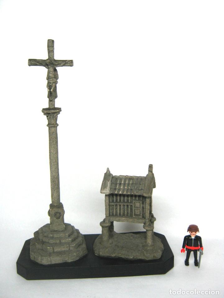 Antigüedades: 38 cm - Horreo y Cruceiro Cruz con peana - Galicia - Camino de Santiago - Foto 3 - 141597734