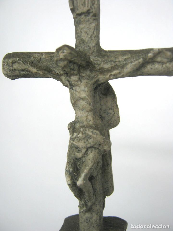 Antigüedades: 38 cm - Horreo y Cruceiro Cruz con peana - Galicia - Camino de Santiago - Foto 4 - 141597734