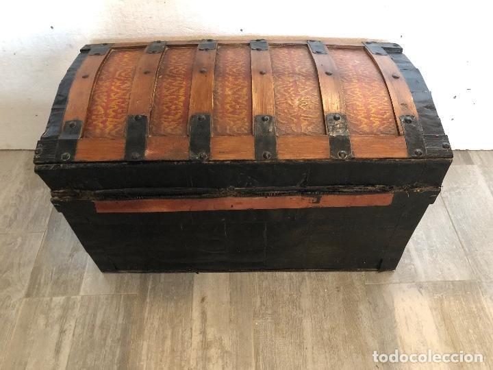 Antigüedades: ARCA-BAUL DE CHAPA Y MADERA - Foto 5 - 141645014