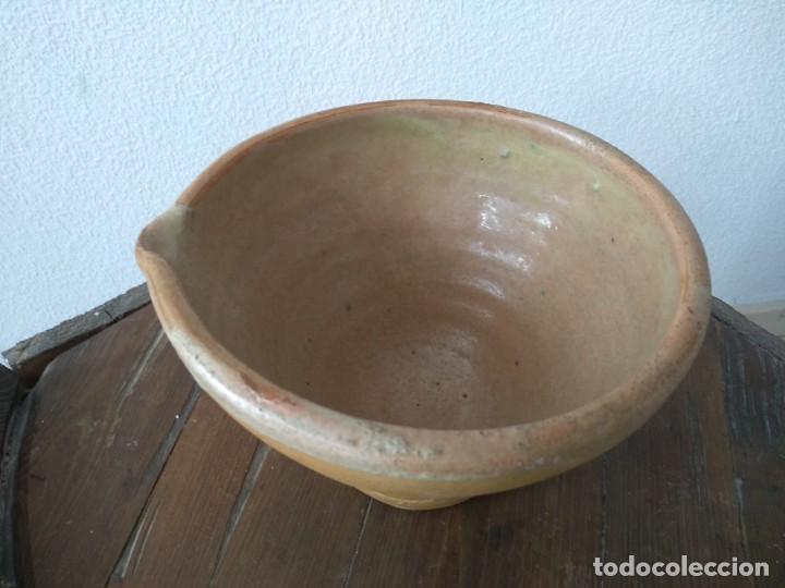 Antigüedades: ANTIGUO MORTERO BARRO CERAMICA - Foto 2 - 141654170