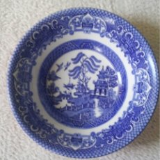 Antigüedades: CUENCO PORCELANA INGLESA. OLD WILLOW. MOTIVOS ORIENTALES AZUL INTENSO. MADE IN ENGLAND. COLLEGE ROAD. Lote 139807576