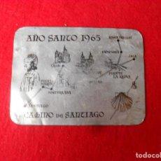 Antigüedades: PLACA ALUMINIO,CAMINO SANTIAGO,AÑO 1965,JACA,PONFERRADA,RONCESVALLES. Lote 141672854