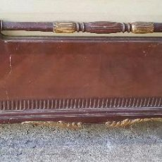 Antigüedades: CAMA DORADA DE CAOBA , FRONTAL PARA RESTAURAR. Lote 141674862