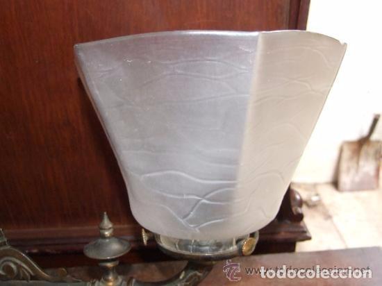 Antigüedades: LAMPARA,APLIQUE BRONCE CON TULIPA MODERNISTA, DE GAS - Foto 2 - 141676826