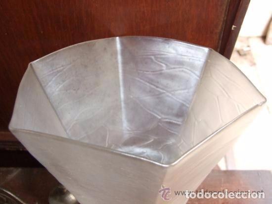 Antigüedades: LAMPARA,APLIQUE BRONCE CON TULIPA MODERNISTA, DE GAS - Foto 3 - 141676826