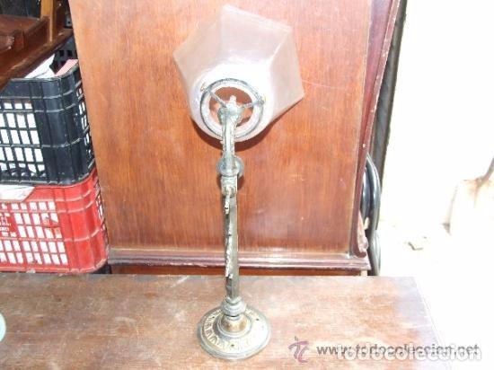 Antigüedades: LAMPARA,APLIQUE BRONCE CON TULIPA MODERNISTA, DE GAS - Foto 4 - 141676826