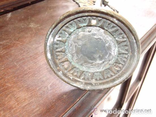 Antigüedades: LAMPARA,APLIQUE BRONCE CON TULIPA MODERNISTA, DE GAS - Foto 6 - 141676826