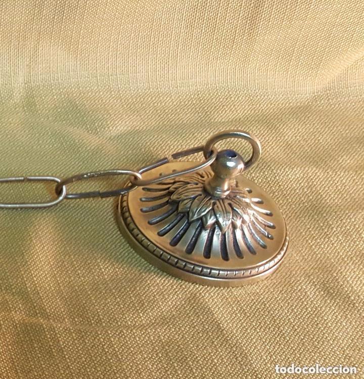 Antigüedades: LAMPARA MODERNISTA DE TECHO CON CRISTALES. - Foto 4 - 141683354