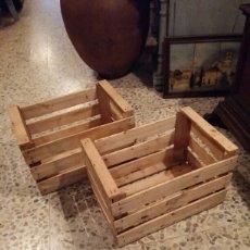 Antigüedades: LOTE 2 CAJAS ANTIGUAS DE MADERA. Lote 141686376